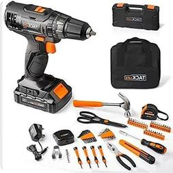 Combo Kit  20V Cordless Drill and Tool Kit, 60PCS,Toolbox an