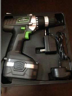 Genesis Cordless 18v Drill/Driver with Accessories, Work Lgh