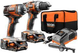 RIDGID Cordless 2-Tool Combo Kit Drill/Driver and Impact Dri