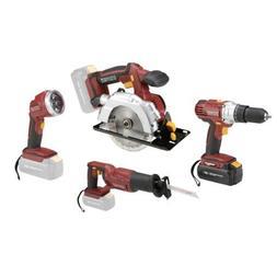 18 Volt Cordless 4 Tool Combo Pack: Drill/driver, Circular S