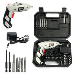 Cordless Battery Drill Power Tools 4.8V w/45Pcs Screwdriver