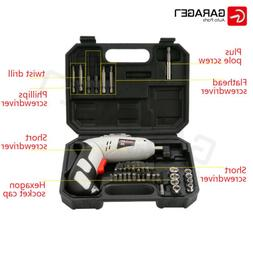 Cordless Battery Drill Power Tools 4.8V 45Pcs Screwdriver Dr