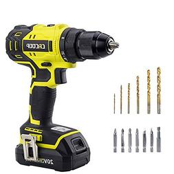 CACOOP 20V Cordless Brushless Drill/Driver Set, 1/2 Inch All