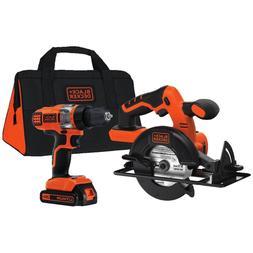 Cordless Circular Saw & Drill Driver Hand Power Tool Kit Lit