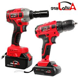 Cordless Drill 20Vmax / Impact Wrench Brushless 1/2'' Batter