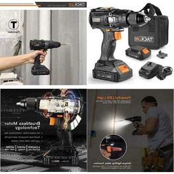 Cordless Drill Brushless 20V, 2.0Ah Lithium-Ion Battery with