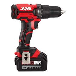 SKIL 20V 1/2 Inch Cordless Drill Driver, Includes 4.0Ah PWRC