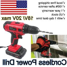 Cordless Drill Driver battery Rechargeable Electric Screw Dr