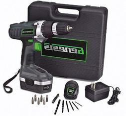 Cordless Drill Driver Kit 18V Case 13 Bit Charger Variable S
