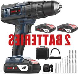 Cordless Drill Driver Kit,Cordless Drill with 2 Batteries an