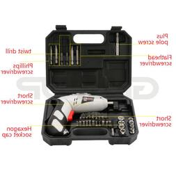 cordless drill driver kit rechargeable electric screw