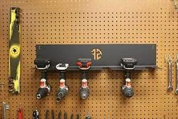 cordless drill driver organizer hanging mount