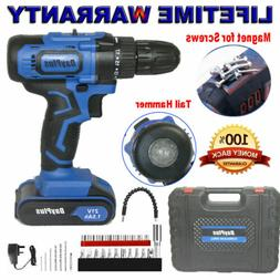 Cordless Drill Driver Rechargeable Battery Electric Screw Dr
