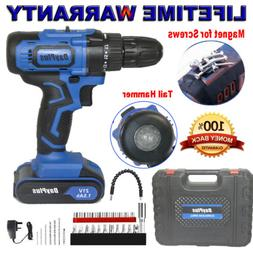 cordless drill driver rechargeable battery electric screw