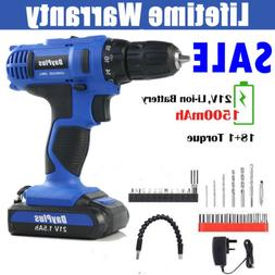cordless drill driver rechargeable electric screw drill