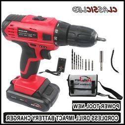 CORDLESS DRILL DURABLE ELECTRIC DRILL SET BATTERY CHARGER 20