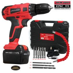 Toolman Cordless Drill Kit 21V with Drill Set 14 pcs for Hea