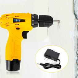 Cordless Drill Kit Driver 12V Lithium-Ion 2Speed Electric Sc