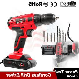 Cordless Drill Kit Driver Portable Electric Power Drill Tool