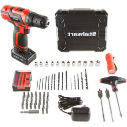 20V Cordless Drill w Socket Wrench Bits Tool Kit Box Best Ho