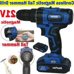 Cordless Drills Kit Hammer Drill With 1.5Ah Li-ion Battery C