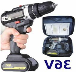 Cordless Electric Hand Drill 2-Speed Screwdriver Power Tools