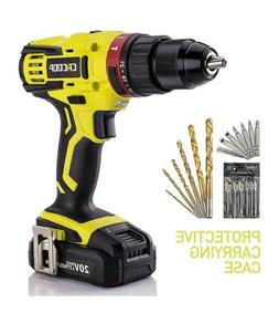 "CACOOP 20V Hammer Drill/Driver set, 2-Speed, ½""All-Metal"