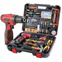 Cordless Hammer Drill Tool Kit, 60Pcs Household Power Tools