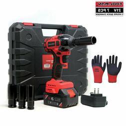 Toolman Cordless Impact Wrench kit 21V with Drill Set 7 pcs