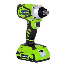 Greenworks 24V Cordless Impact Wrench with Batteries and Cha
