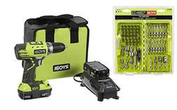 Cordless 18-Volt Lithium-Ion Compact Drill/Driver Kit