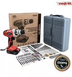 Hi-Spec 20V Cordless Power Drill 1300mAh Lithium-Ion with 89