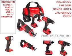CRAFTSMAN Cordless Power Tools Kit Combo Drill Impact Driver