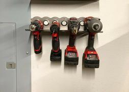 Cordless Tool Storage Rack - Drill, Impact, Milwaukee, Makit