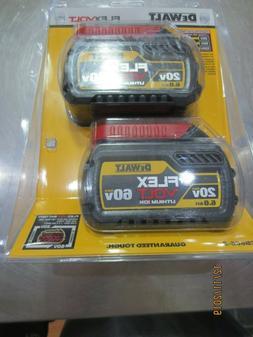 DeWALT DCB606-2 FLEXVOLT 20/60-Volt 6.0Ah Tri-Platform Batte