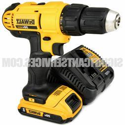 "Dewalt DCD771 Compact Drill Driver Cordless 1/2"" With 2 AH B"