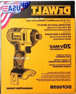 DEWALT DCF885B 20-Volt MAX Lithium Ion 1/4-Inch Impact Drive