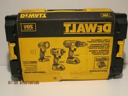 DeWalt 20V DCK340C2 3 Tool Combo Kit DCD771, DCF885, DCL040