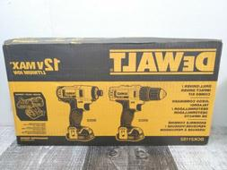Dewalt Drill Driver And Impact Driver Combo Kit 12 V Li-Ion