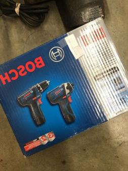 Bosch  drill and impact driver combo kit clpk22-120 SEALED N