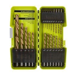 Ryobi Drill Bit Set Titanium Coated Wood Metal Plastic Drill