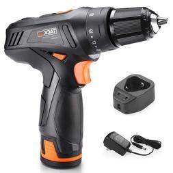 Drill, TACKLIFE Cordless Drill 2000mAh Li-on 2-Speed 3/8-Inc