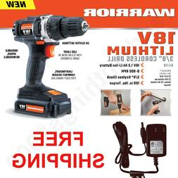 Drill Cordless Warrior 18V Lithium 3/8 in with 18V Battery &