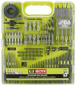 Ryobi Drill Drive Kit  Assorted Bit Sets Driving Drilling Sc