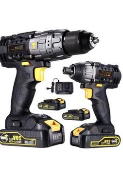 Drill Driver/Impact Driver, TECCPO 20v Max Professional Cord