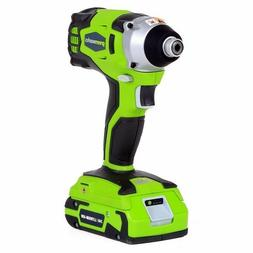 Drill, green works 37032C 24V Cordless Lithium-Ion Impact Dr