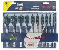 Bosch DSB5010 10-Piece DareDevil Standard Spade Bit Set w/ E