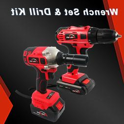 Electric Cordless drill & Impact Wrench Li-ion Battery charg