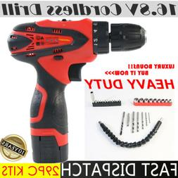 Electric Cordless Drill Driver Set Screwdriver LED with Batt