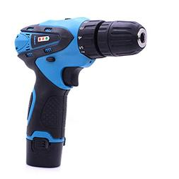 Electric Cordless Drill Set 12v Rechargeable Screwdriver Adj